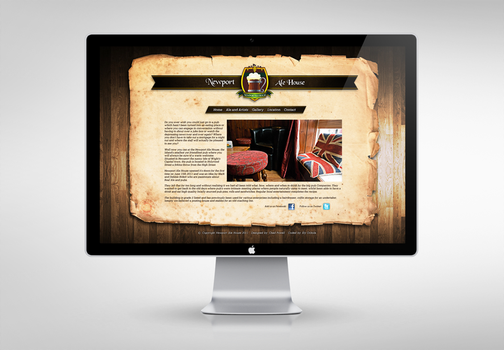Newport Ale House website by chadpowell