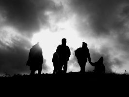 B+W - Silhouetted landscape by bephsmith