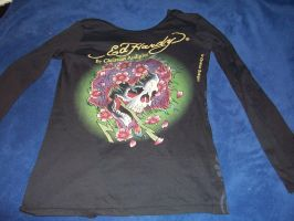 back of ed hardy jacket by 6death6stars6