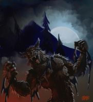 "SPEED PAINT ""Werewolf"" by Grimbro"