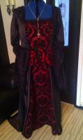 vampire inspired tudor gown by marielefaydesigns