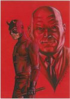 Daredevil and Kingpin by Hognatius