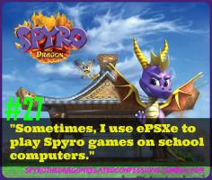 ( Spyro Confessions ) School Computer Playing by KrazyKari