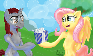 Fluttershy's Gift (To Kryllic) by InMyDefence
