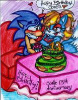 Happy Birthday Sonic by jayfoxfire