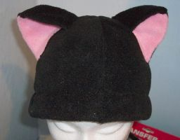 Black deluxe cat hat front by neko-crafts
