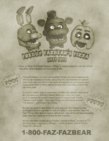 Freddy Fazbear's Pizza Ad by Mic-Roe-Pony