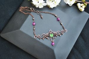 Copper Necklace by twistedjewelry