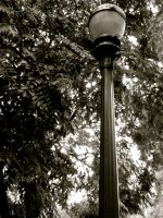 black and white light post by FleetingMoments123