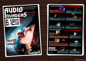 Audio Invaders Flyer Final by mprox