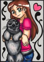 Seal Huggle ACEO by Foxy-Sketches