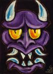 Purple Oni Mask by rawjawbone