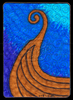 Viking Ship ACEO 31 by Siobhan68