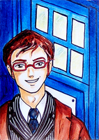 ACEO-Comm: Tenth Doctor by pink-gizzy