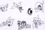 Goosebumps doodle dump by SilverGriffinflare