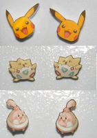 COMM New pokemon earrings by kouweechi