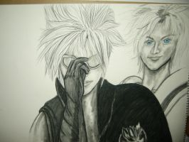 Cloud and Tidus by bluedragoneye
