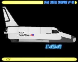 spaceShuttle Enterprise OV101p2 by CaptainBarringer