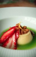 Cereal Milk Panna Cotta, Sorrel Juice by ThomasVo