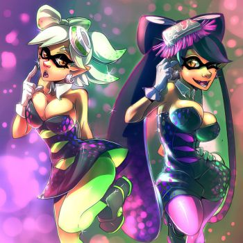 The Glam Of Squid Sisters by Imoon90