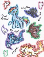 Pencil Doodle Stickers by Rustyscout