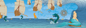 gullets, sea and dragons by sarpselcuk