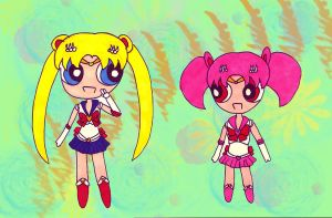 Sailor Moon and Chibi Moon by RoyxRizaFan