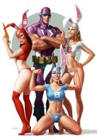 Captain Stone with Bunnies by MADEFIRE