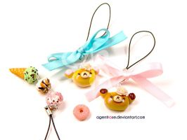 Clay Rilakkuma Bakery Buns and Ice Cream by AgentRose