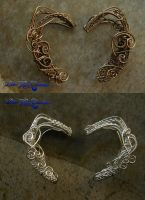 Elven Ears - Custom Order - Elf Wire Wrapped by LadyPirotessa