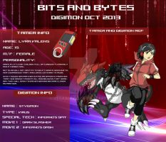 Bits and bytes Digimon app - Lyra and Stygmon by VegaAltair