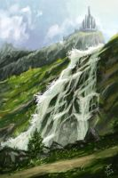 Waterfall (Speedpainting) by Piky