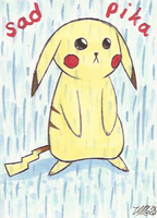 Art Card 22 - Pikachu by VickyViolet