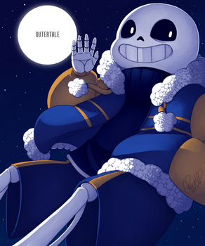 Outertale!Sans by NeykStar