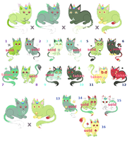[CLOSED] Ginormous Green UniCat Breeding Sheet by mouldyCat