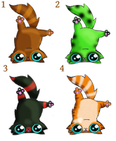 Free Upside down funny cat adopts by KingZoidLord