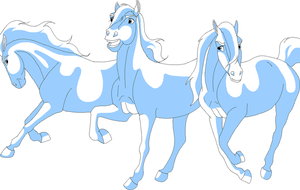 horses unite lineart by Horsey-lineart
