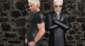 Wesker and His Clone by SuperMeja