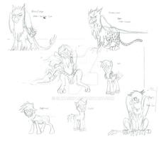 Ace Combat: Equestria Chronicles - Sketches #4 by SLWASKIT