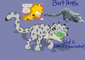 Bart People: Lisa's cat form (snow leopard) by cyngawolf