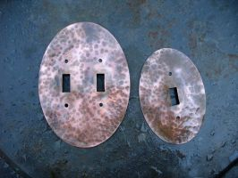 Elliptical Copper Switchplates by ou8nrtist2