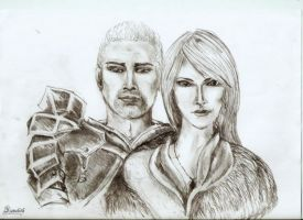 Hawke and Cullen Dragon Age 2 by Inveleth