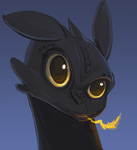 Toothless Speed Paint by StevenRayBrown