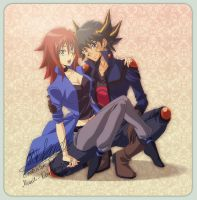 commission : Yusei and Natsumi by pink-hudy