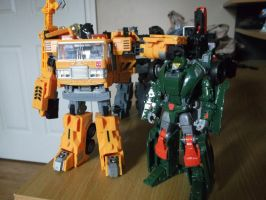 Autobot buddies, Hoist and Grapple by forever-at-peace