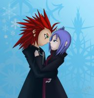 .:AT:. Axel X Konan by silvah-princess