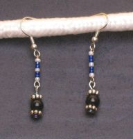 Tricolored Drop Earrings by LadyTal