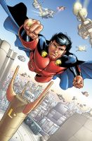 Mon-El flyng again by PORTELA