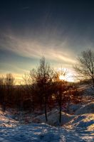 Winter sunset by andreimogan