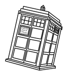 TARDIS Colour-in by PonellaToon